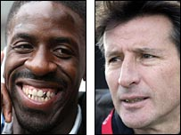 Dwain Chambers and Seb Coe