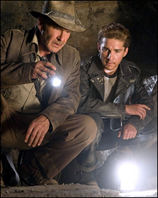 Harrison Ford and Shia LaBeouf