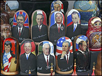 Russian dolls are traditional favourites for souvenir hunters