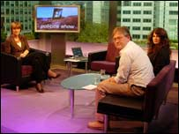 Harriet Harman with viewer panel
