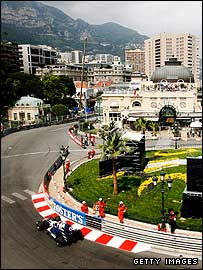 The Casino section of the Monaco Grand Prix