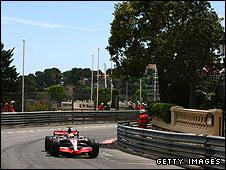Lewis Hamilton at Massenet at last year's Monaco Grand Prix