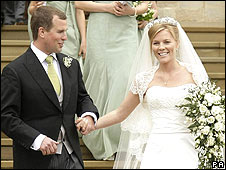 Peter Phillips and Autumn Kelly wed