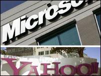 Logotipos de Microsoft y Yahoo