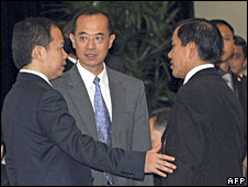 Members of Asean talking before meeting