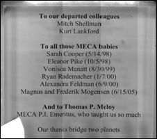 Memorial plaque to Meca collaborators (Tom Pike)