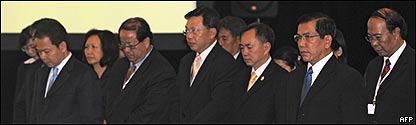 Cancilleres de la ASEAN rinden un minuto de silencio por las víctimas del ciclón Nargis,  AFP
