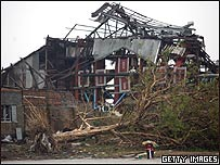 Casa destruida por el ciclón, Getty Images
