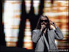France's Sebastien Tellier rehearses for Eurovision