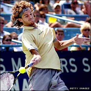 Gustavo Kuerten at the Cincinnati Masters