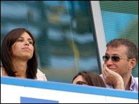 Roman Abramovich (right) with new girlfriend Daria Zhukova