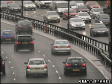 Traffic on London's M25
