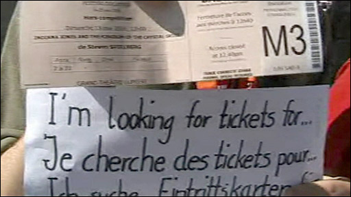 Advertising for tickets