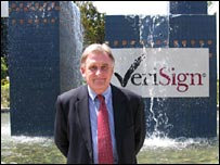 Mike Kirwan outside VeriSign hq