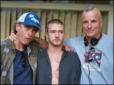 (L to r: Michael Mehas, Justin Timberlake and Nick Cassavetes)