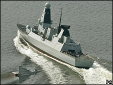 HMS Daring, built by BAE Systems