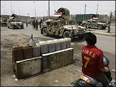 Iraqi troops entering Sadr City on Saturday