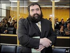 German Rabbi Zalman Gurevitch, in court on 17 April