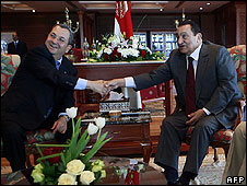 Israeli defence minister and Egyptian president meeting on Monday