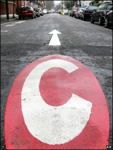 Congestion charge sign (Image: AP)