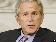 President George W Bush (file image)