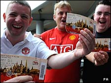 Manchester United fans in Moscow