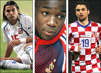 Milan Baros, Lassana Diarra, Niko Kranjcar