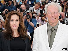 Angelina Jolie and Clint Eastwood