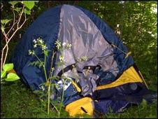 Stephen's tent