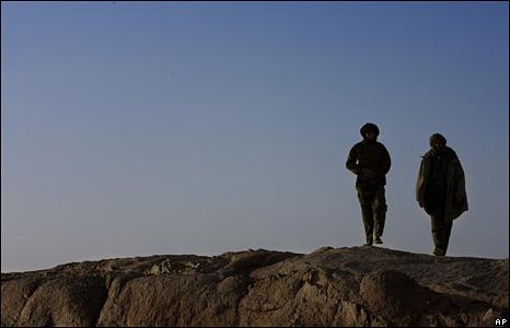 Polisario soldiers near Tifariti, 19 May 2008