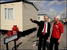 John Healey visits flood affected residents