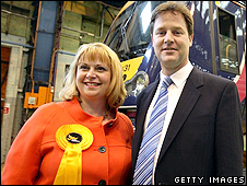 Elizabeth Shenton and Nick Clegg