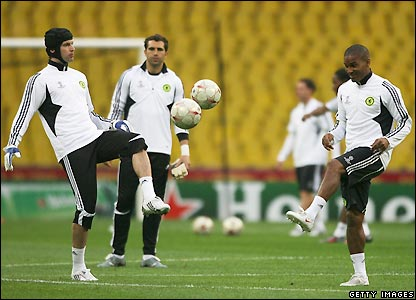 Petr Cech and Florent Malouda
