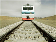 Train on the Qinghai -Tibet railway