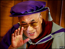 The Dalai Lama receiving an honorary doctorate