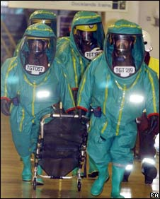 London emergency services practice for attack on the underground, 2003