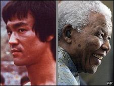 Bruce Lee and Nelson Mandela