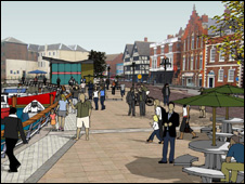Artist's impression of a Boston Waterways development