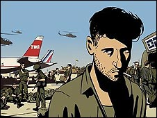 A scene from Waltz with Bashir