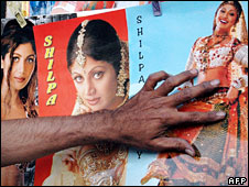 Bollywood star posters in India