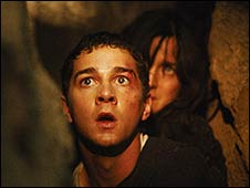 Shia LaBeouf and Carrie-Anne Moss in Disturbia