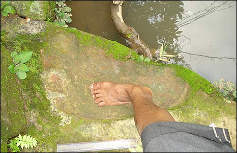Fossilised foot print in South Garo hills