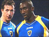 Robbie Fowler and Jimmy Floyd Hasselbaink
