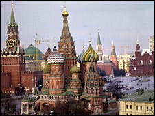 Kremlin, St Basils Cathedral and Red Square (BBC photo)