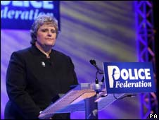 Police Federation chairman Jan Berry