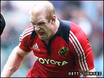 Munster captain Paul O'Connell in their Heineken Cup semi-final win over Saracens