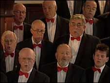 Four Lanes Choir rehearsing