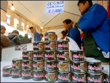 Canned whale meat. Image: AP