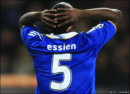 Essien rues his miss