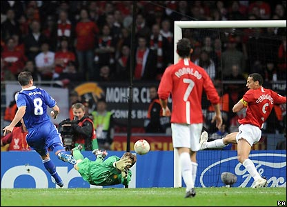 Lampard equalises for Chelsea